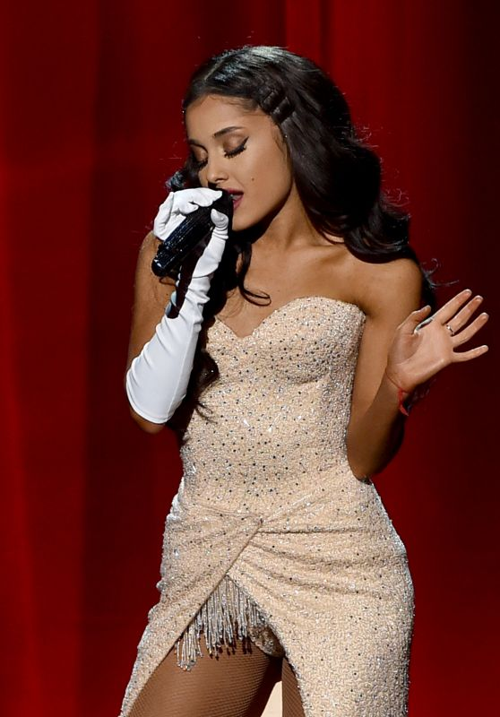 Ariana Grande Performs at  2015 American Music Awards in Los Angeles