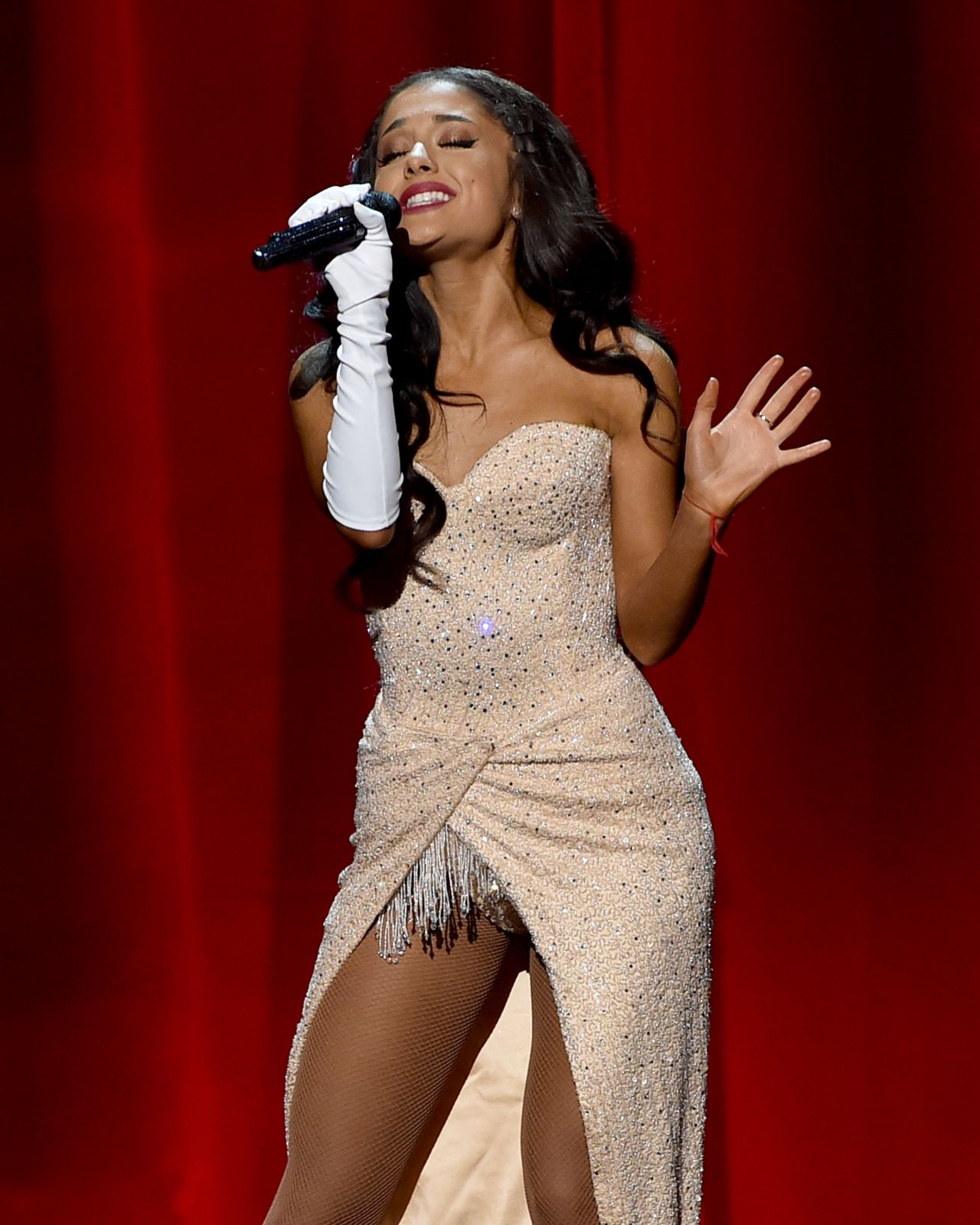 Ariana Grande Performs At 2015 American Music Awards In