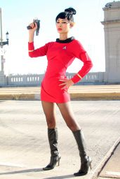 Bai Ling - Posing as a Starfleet Crew Member in Los Angeles