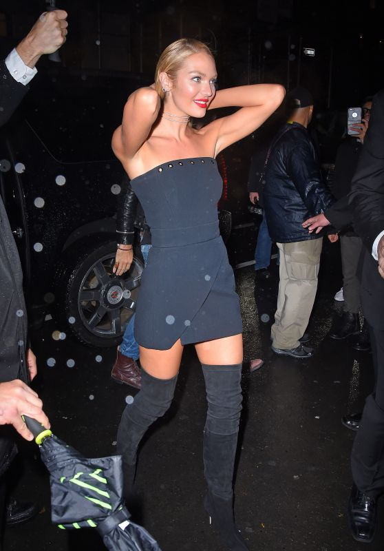 Candice Swanepoel – Arrives at Tao for Victoria's Secret Fashion Show After Party in NYC