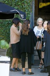 Cara Santana Smiles For Cameras After Meeting Friends for Coffee, 11/17/2015
