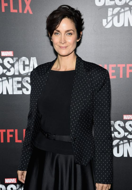 Carrie-Anne Moss - Jessica Jones Series Premiere at Regal E-Walk