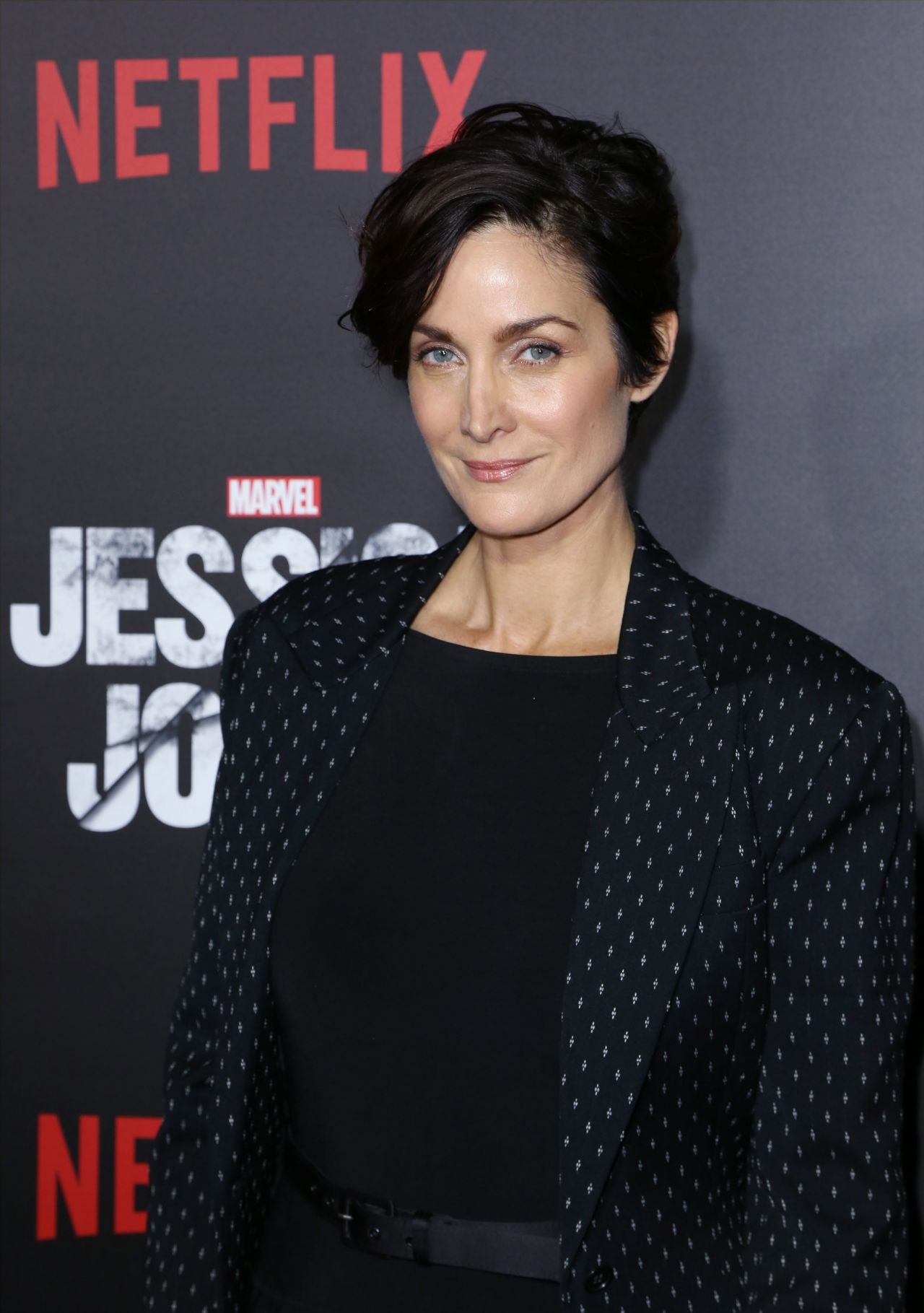 Carrie-Anne Moss - Jessica Jones Series Premiere at Regal ...