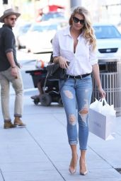 Charlotte McKinney in Ripped Jeans - Out in Beverly Hills, October 2015