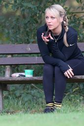 Chloe Madeley - Working Out on Hampstead Heath, November 2015