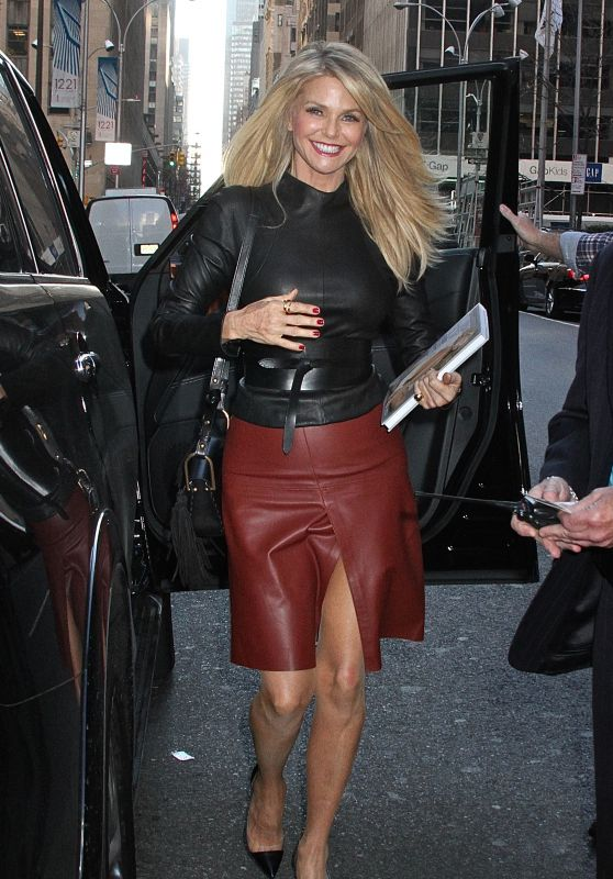 Christie Brinkley - Arrives at SiriusXM Studios in NYC, November 2015