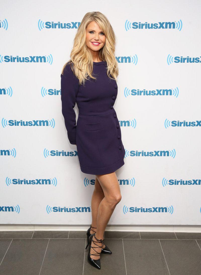 Christie Brinkley At Siriusxm Studios In New York City