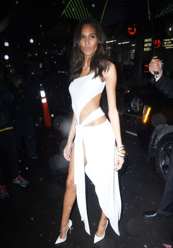 Cindy Bruna – Arrives at Tao for Victoria's Secret Fashion Show After Party in NYC
