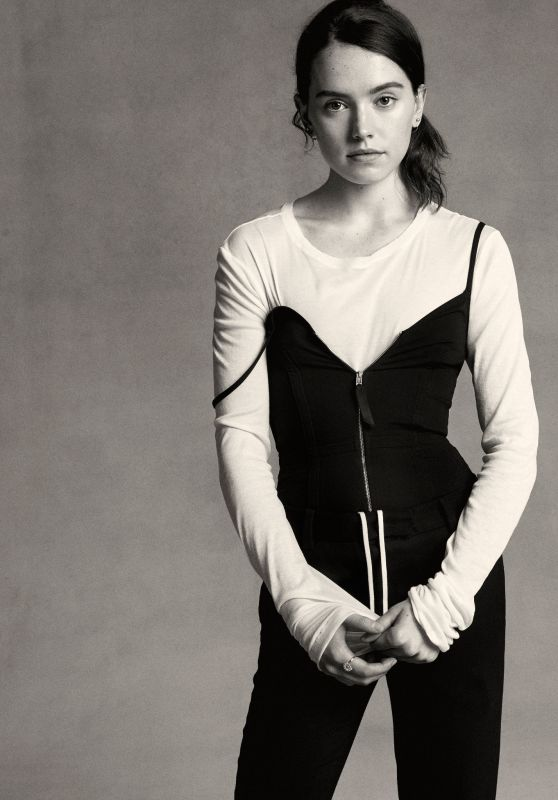 Daisy Ridley - B&W Photoshoot for Interview Magazine November 2015