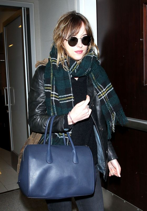 Dakota Johnson at LAX Airport, November 2015