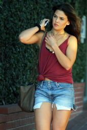 Danielle Campbell Leggy in JEans Shorts - West Hollywood, November 2015