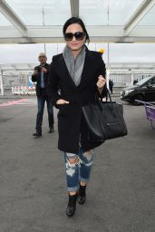 Demi Lovato - Heathrow Airport in London, November 2015