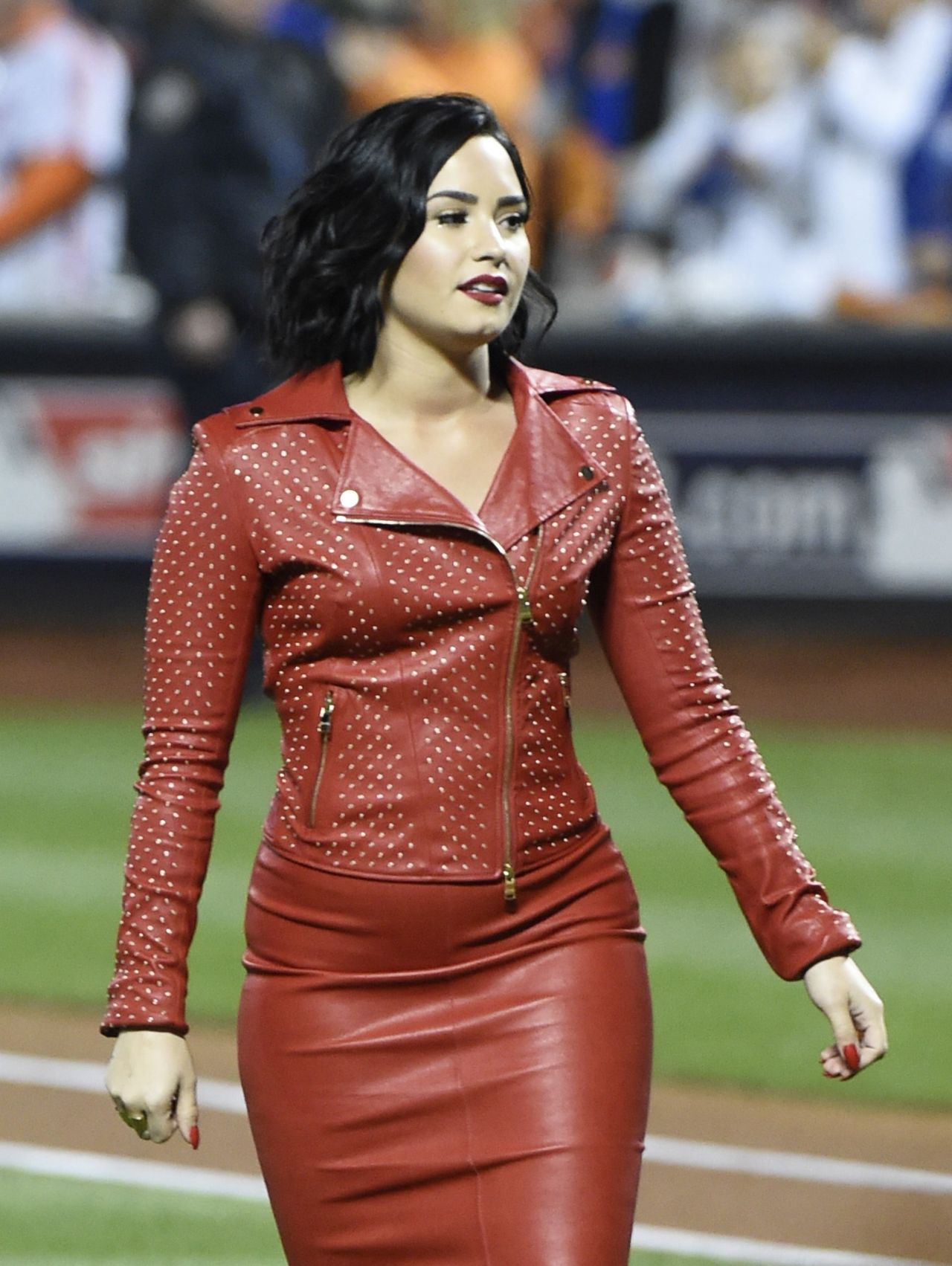Demi Lovato - MLB World Series Game Four at the Citi Field ...