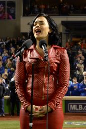 Demi Lovato - MLB World Series Game Four at the Citi Field in New York City, October 2015