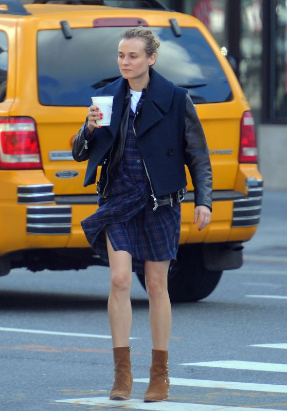 Diane Kruger Casual Style - Out in Soho New York, November 2015