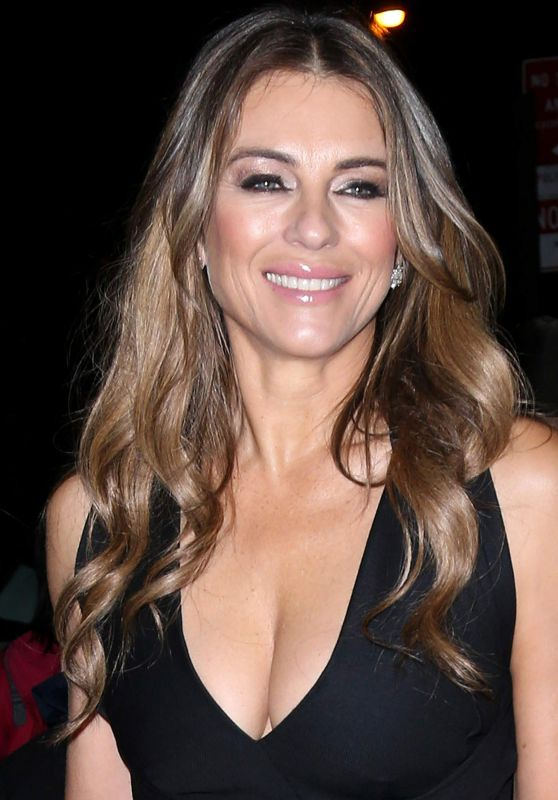 Elizabeth Hurley - Arriving at Her Hotel in New York City, November 2015