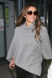 Elizabeth Hurley - Arriving Back at Heathrow Airport in London, 11/18/2015