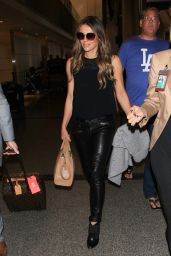 Elizabeth Hurley - at LAX Airport, November 2015