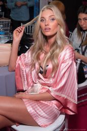 Elsa Hosk – 2015 Victoria's Secret Fashion Show in New York City, Dressing Room
