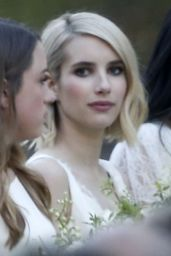 Emma Roberts as a Bridesmaid at Kara Smith