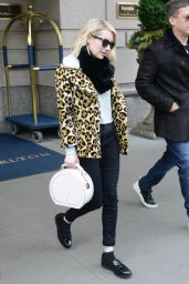 Emma Roberts - Leaving the Ritz-Carlton Hotel in NYC, 11/24/2015