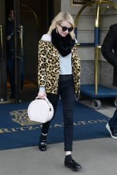 Emma Roberts - Leaving the Ritz-Carlton Hotel in NYC, 11/24/2015