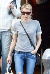Emma Roberts - Shopping in Los Angeles, November 2015