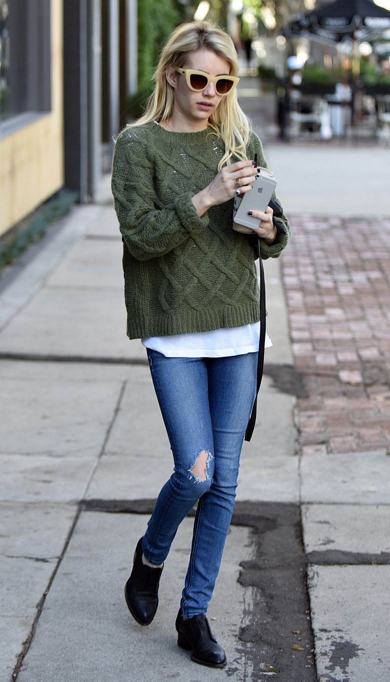 Emma Roberts Street Style – Out in LA, November 2015