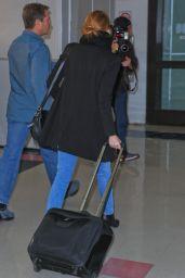 Emma Stone at LAX Airport, November 2015