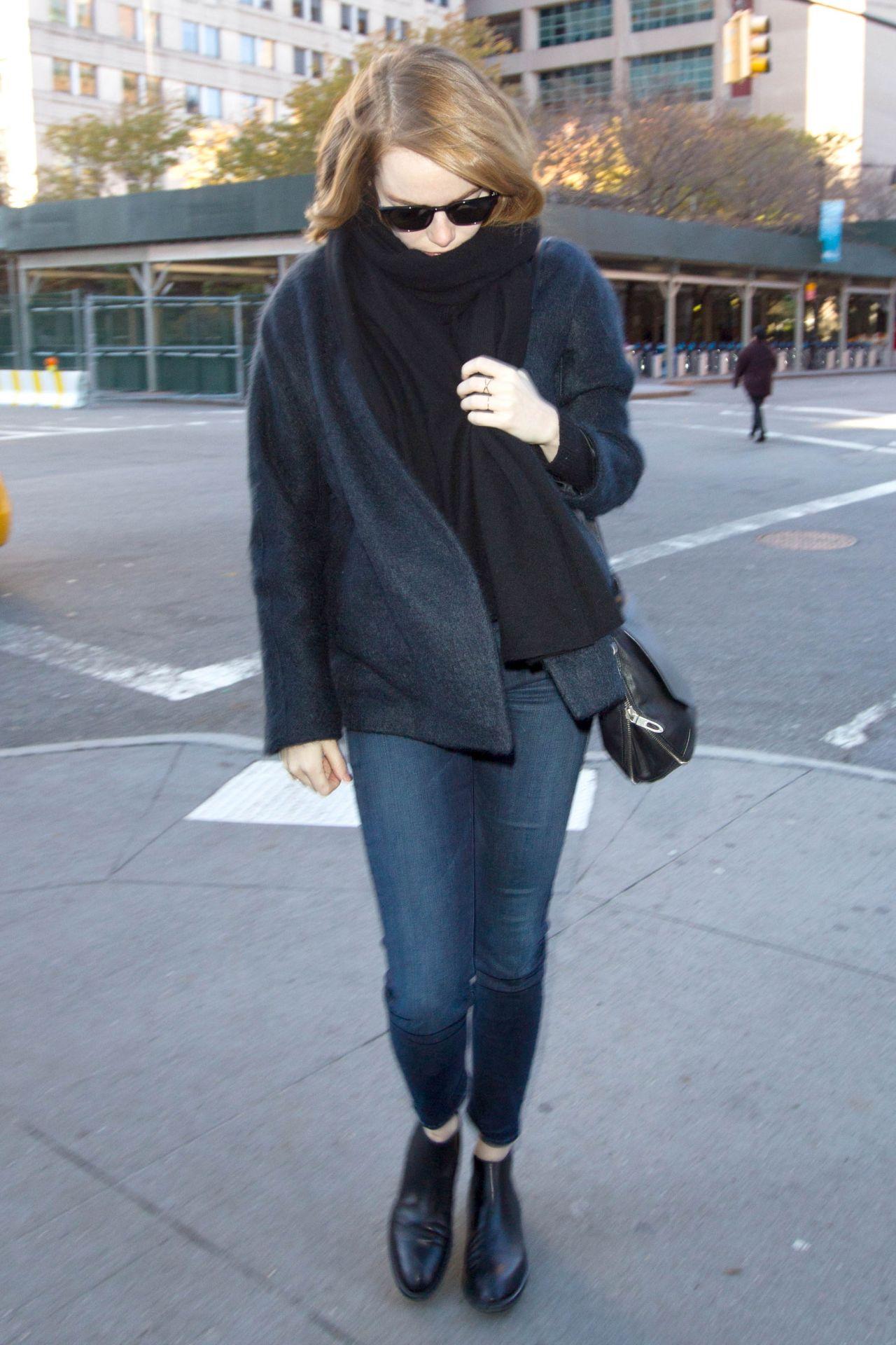Emma Stone Autumn Style -  New York City, November 2015
