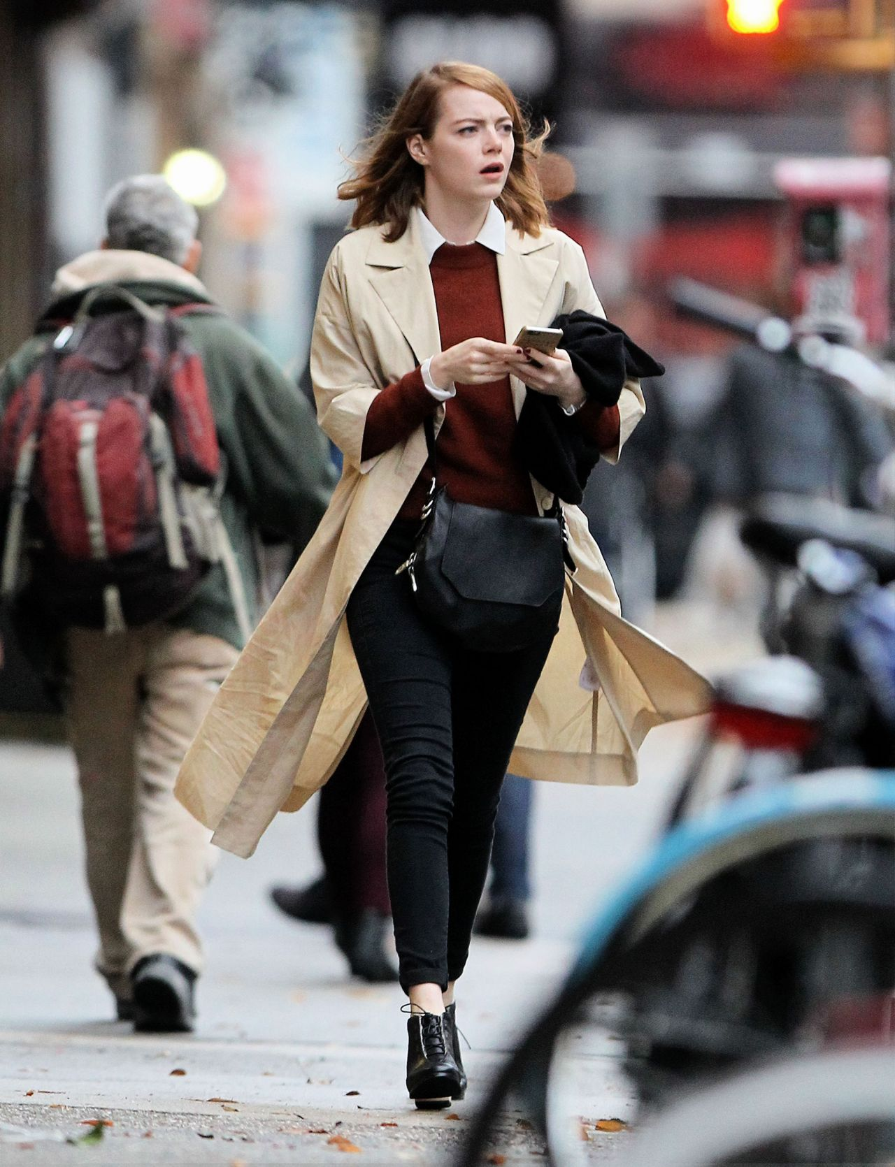 Emma Stone Autumn Style Out In Nyc November 2015