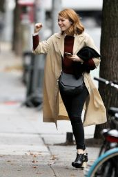 Emma Stone Autumn Style - Out in NYC, November 2015