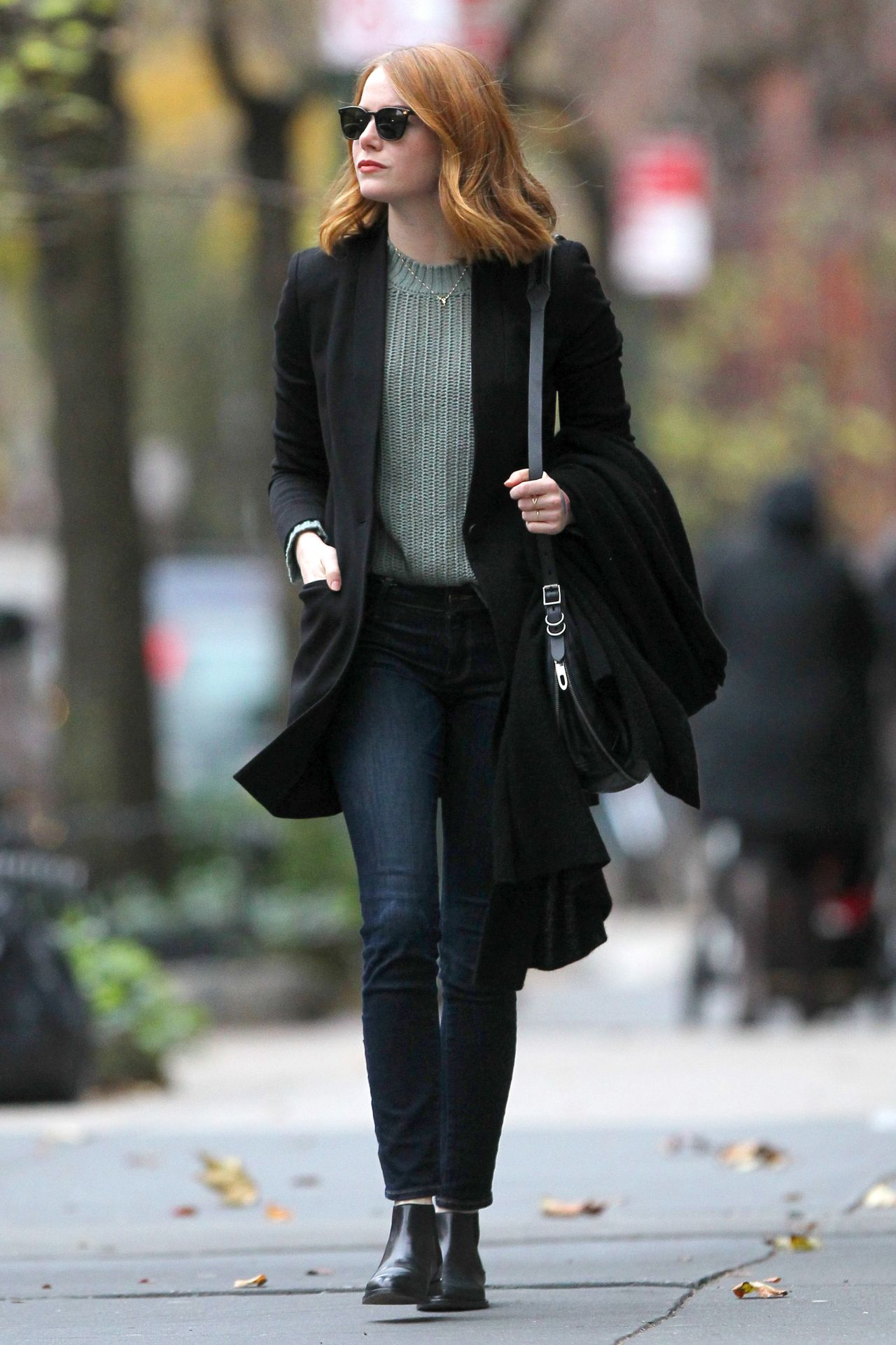 emma stone casual style  new york city 11182015