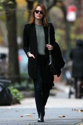 Emma Stone Casual Style - New York City, 11/18/2015