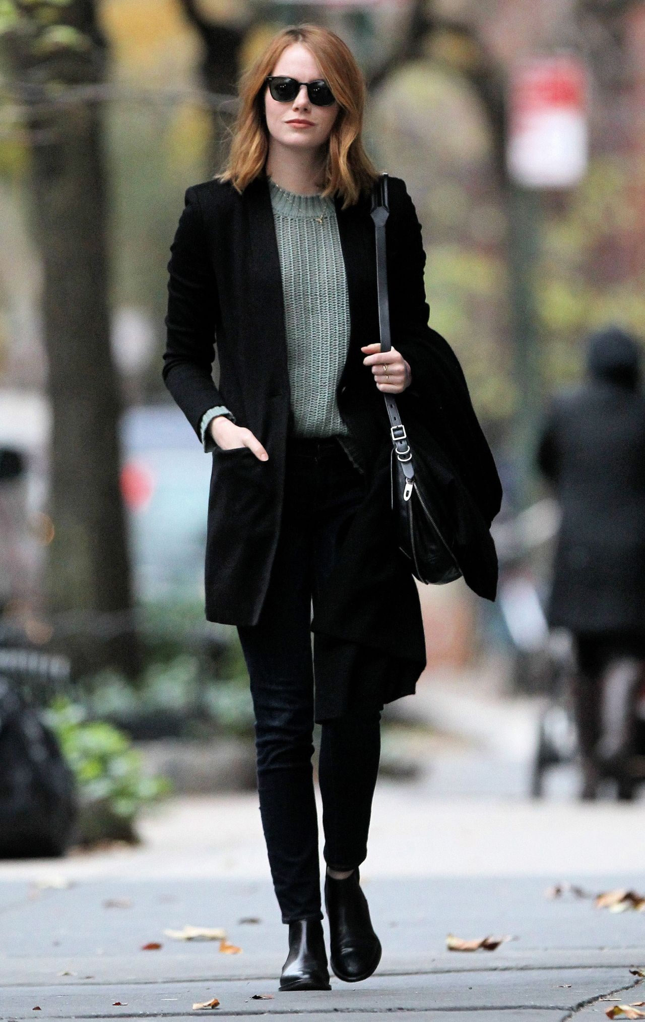 Emma Stone Casual Style New York City 11 18 2015