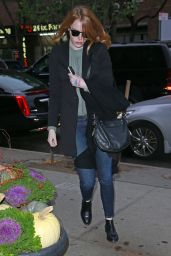 Emma Stone Casual Style - Out in NYC, November 2015