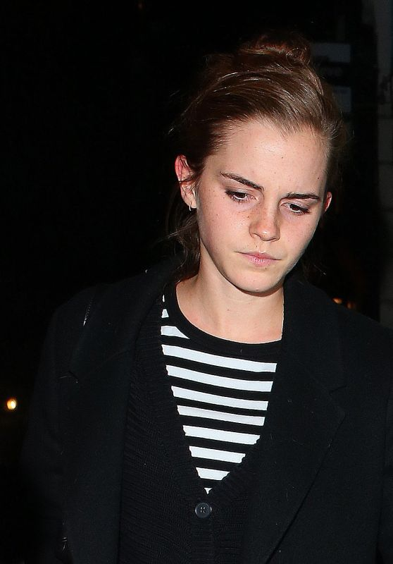 Emma Watson Night Out - Leaving Lemonia Restaurant in London, November 2015
