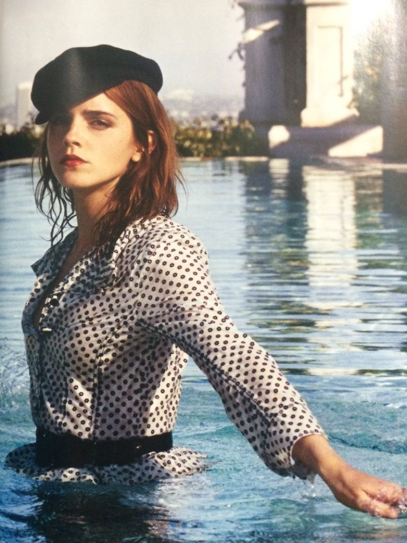 Emma Watson Porter Magazine Winter Photos Demi Lovato Ema