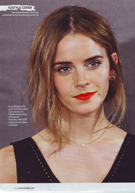 Emma Watson - TUSTYLE Magazine November 2015 Issue