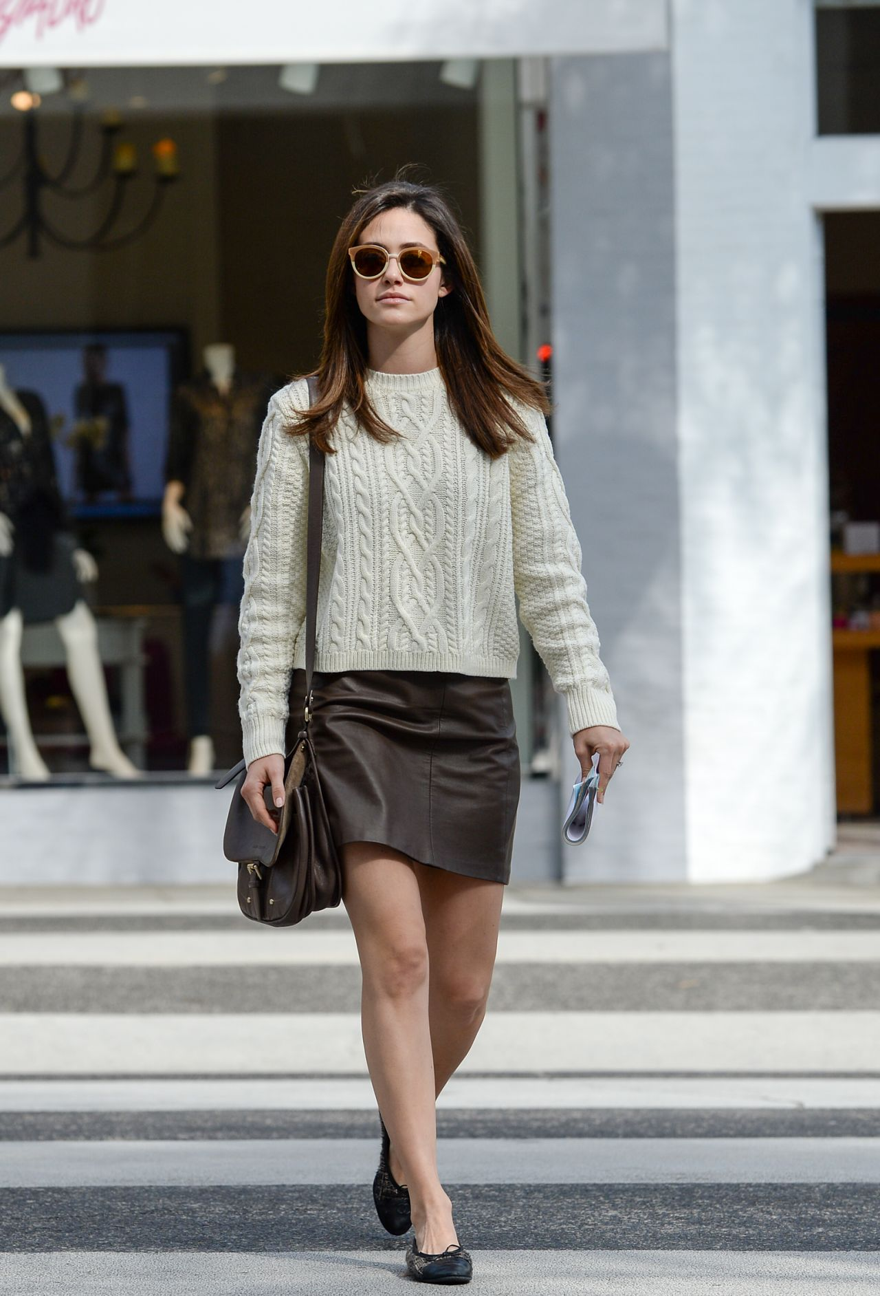 Emmy Rossum Casual Style Out In Brentwood November 2015