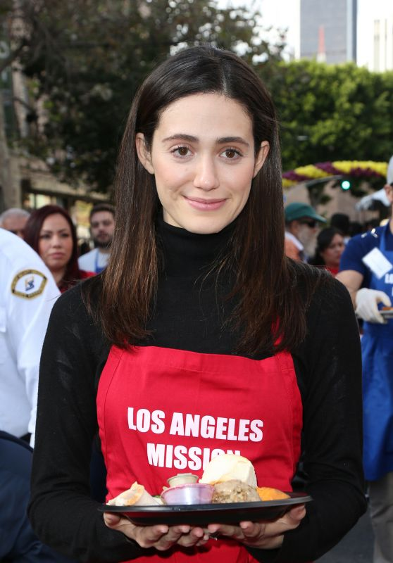 Emmy Rossum – Los Angeles Mission Thanksgiving For The Homeless At The Los Angeles Mission, 11/25/2015