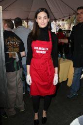 Emmy Rossum – Los Angeles Mission Thanksgiving For The Homeless At The Los Angeles Mission, 11/25/2015
