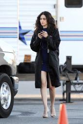 Emmy Rossum on the Set of