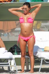 Eva Longoria in a Bikini - Beach in Miami, November 2015