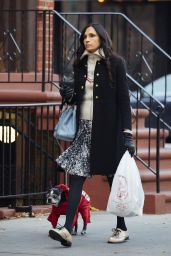 Famke Janssen - Out For a Walk in New York City, November 2015