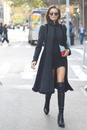 Flavia Lucini - Enters the Victoria Secret Rehearsals in NYC