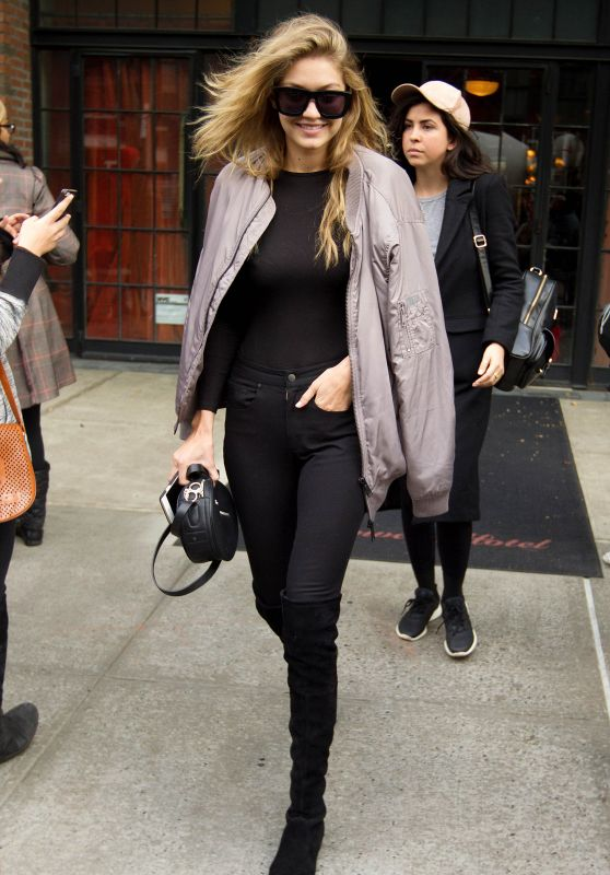 Gigi Hadid Casual Style - NYC, November 2015