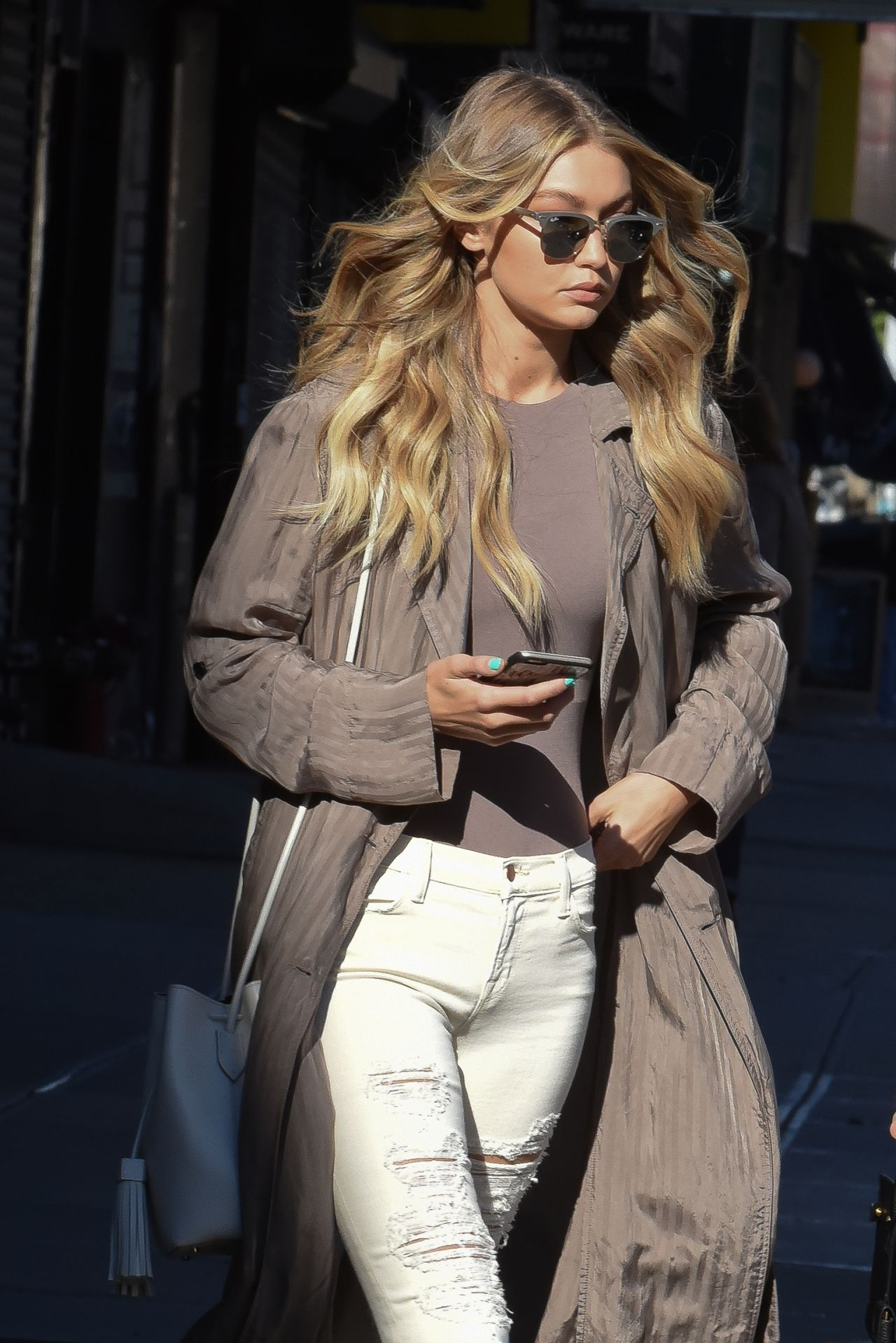 gigi hadid casual style out in new york city november 2015