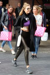 Gigi Hadid in Tights - Out in New York City, November 2015
