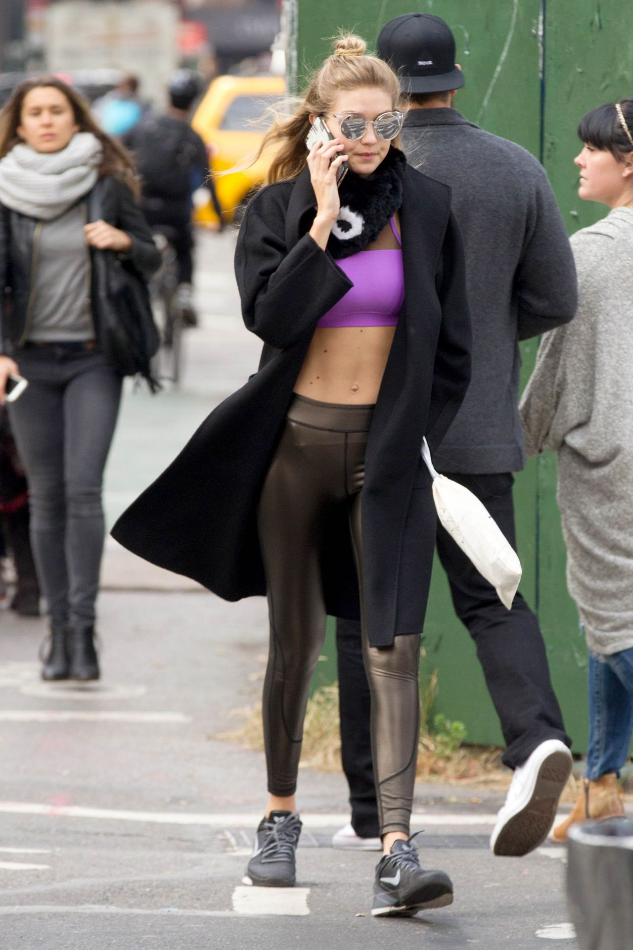 Gigi Hadid in Tights